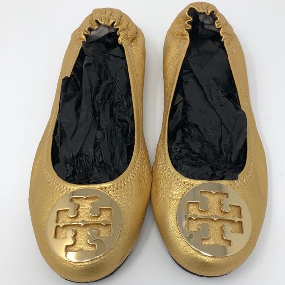 Tory  Burch Schuhes   Tory Gold On Gold Reva Flats 105m   Poshmark 87913d
